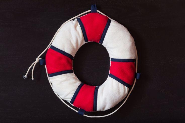 DIY life preserver pillow
