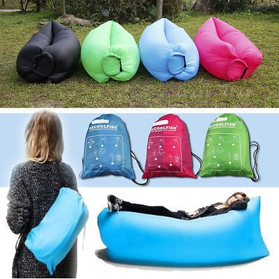 Portable Inflatable Air Bed Sofa Outdoor Beach Camping Sleeping Bag Chair US
