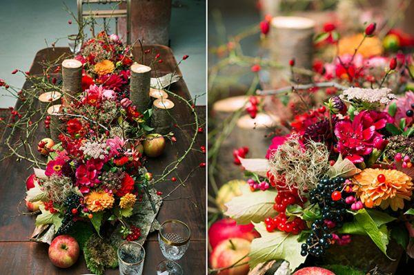 Eine prächtige Inspiration für eine Herbsthochzeit in Rot von Weitblick Fotografie