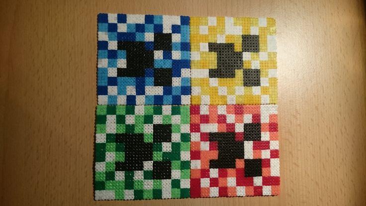 Minecraft Creeper Faces Hama perler beads by PixelArt698