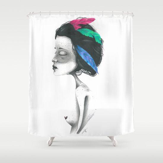INDI shower curtain