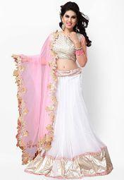 Kashish Lifestyle Embroidered White Lehenga Online Shopping Store