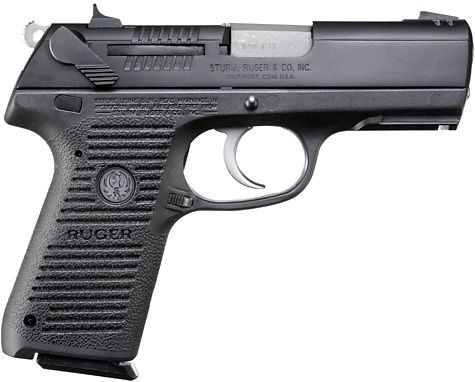 Ruger® P-Series P95™ Centerfire Pistol Models--This is the one I ended up getting but in stainless. Holds 15+1 and is very smooth. It doesn't have as much kick even with the +p powder load. It's full sized and isn't easily concealed, but I bought it for the home and I'm very pleased with it. My husband got it for me for Christmas! =) He's shown me how to field strip it, clean it and put it back together. Love it! We paid less than what's shown here..so shop around.