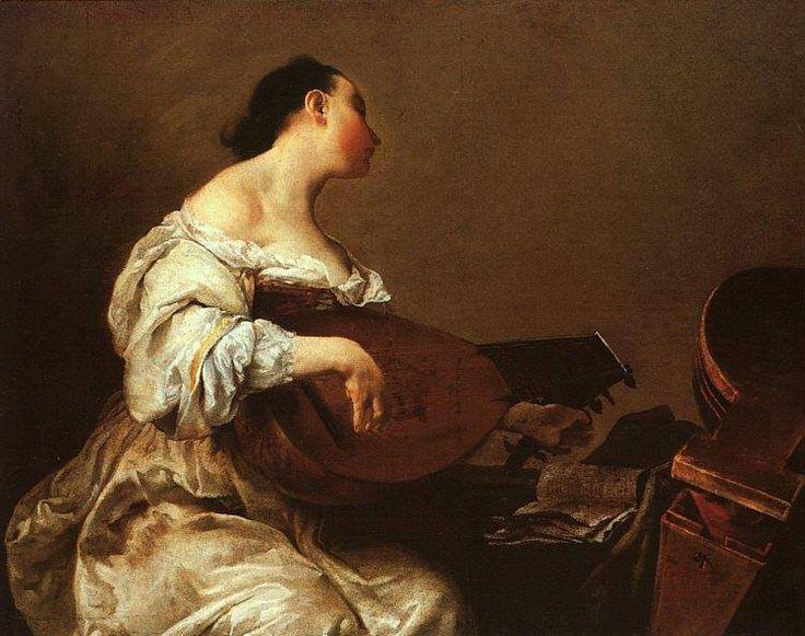 Giuseppe Maria Crespi, Donna che suona il liuto, 1700-1705, Museum of Fine Arts, Boston.