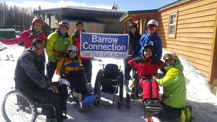 The Barrow Connection took to the slopes of Arizona Snowbowl for a few days of adapted skiing! The Barrow Connection outreach program provides recreation for people with physical and neurological disabilities.