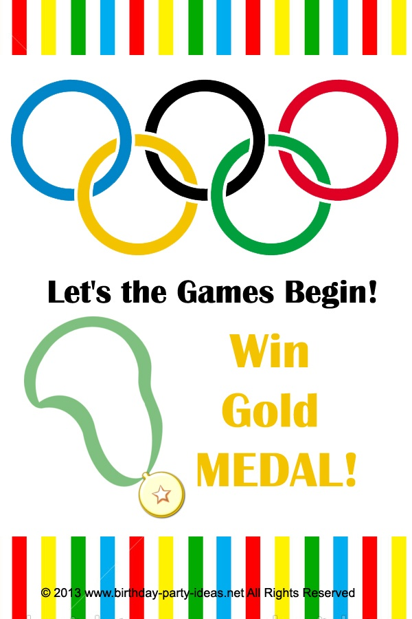 olympic theme invitation sayings | just b.CAUSE