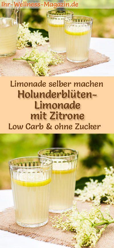Holunderblüten-Limonade mit Zitrone selber machen – Low Carb & ohne Zucker