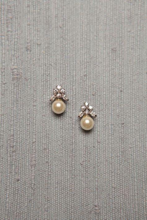 Simple Diamond and Pearl Studs