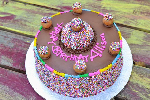 Doughnut Birthday Cake from Mustang Donuts in #Dallas # ...