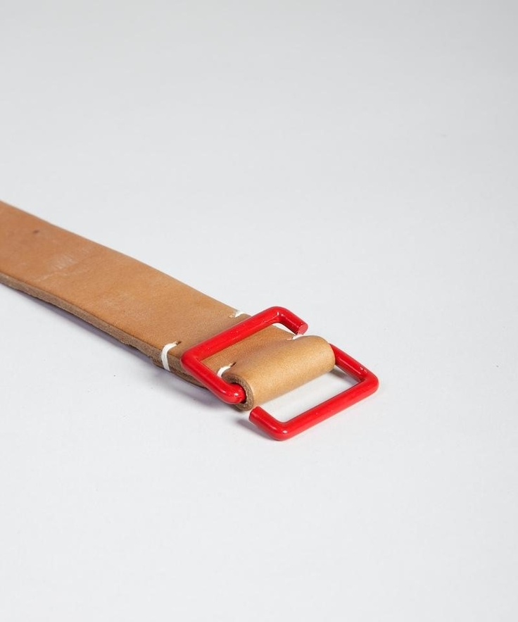 Tender Red S Buckle Tan Belt - Superdenim