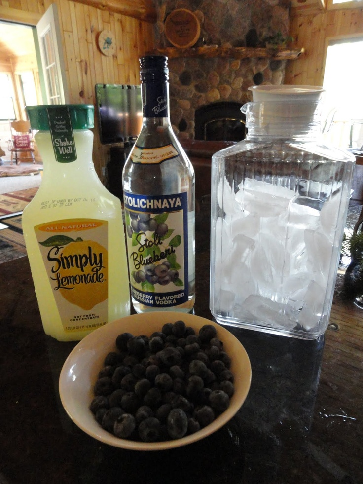 My Kitchen, My Sanctuary: Blueberry Vodka Drink