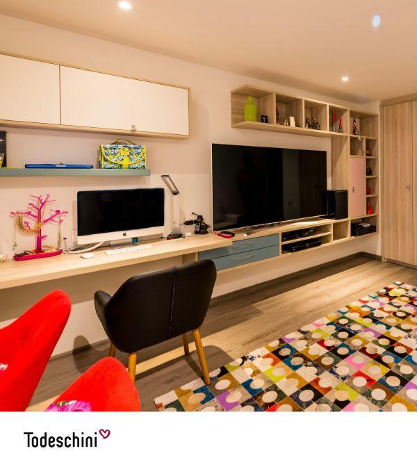 Tu talento merece un ambiente donde fluyan las ideas que te llevarán al éxito. En Todeschini  remodelamos tus espacios para que encuentres el lugar ideal de trabajo. Visita nuestro show room: Bogotá D.C., Colombia Cra. 7 # 75 - 66     #Diseñodeinteriores #Decoración #Todeschini #ambientes #mueblesamedida #arquitectura #renovation #interiordesign  #residentialarchitecture #renovacion