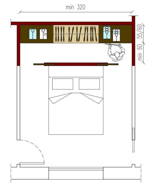 Oltre 1000 idee su armadio per camera da letto su for Misure cabina armadio
