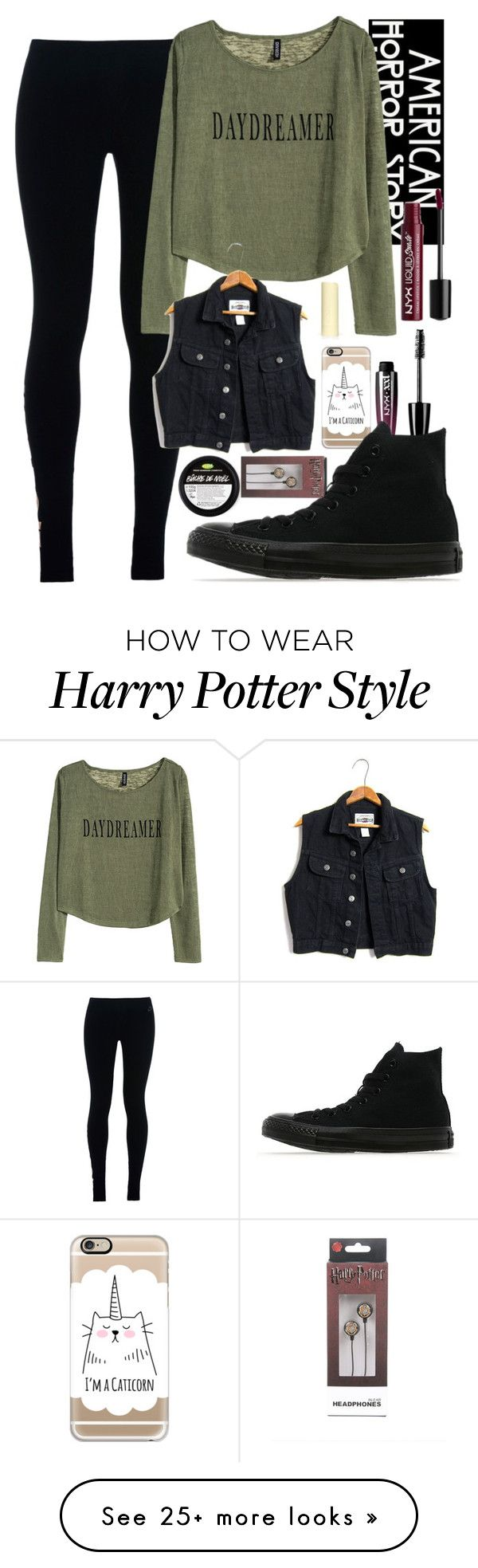 Untitled #767 by bree-rayne5sos on Polyvore featuring NIKE, H&M, Casetify, Eos, NYX and Converse