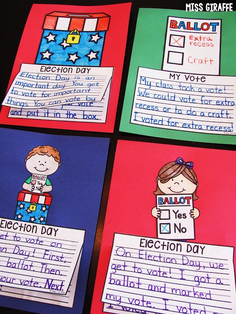 Classroom Voting Ideas ~ Ideas about election day on pinterest