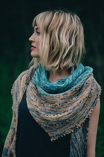 I am so honored to have been able to use Republic of Wool yarn for this shawl, dyed by the magnificent Michele! Sadly, Michele is going through a very scary time right now, as she has been having difficulty with her eyes. From what she knows at this point, her doctors think she has Secondary Angle Closure Glaucoma being caused by cysts within her eyes. Her doctors have never seen anything like this in someone so young, but they do know she will need to have an operation to prevent vision…