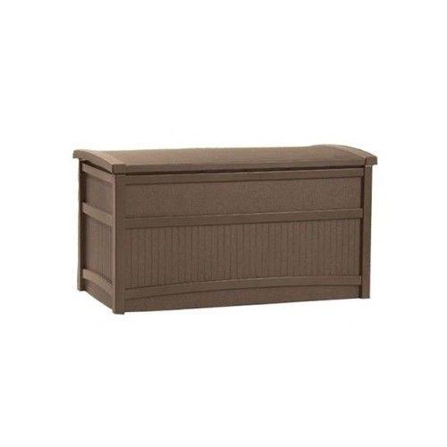 Suncast Storage 50 Gallon Resin Outdoor Deck Box Mocha 19 x41x 21 3 DAY SALE