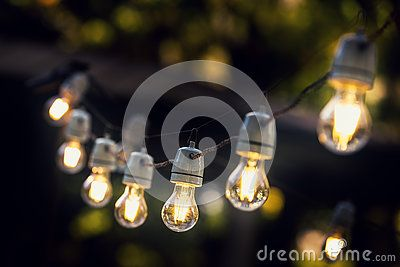 Party String Lights Hanging In A Line - Download From Over 60 Million High Quality Stock Photos, Images, Vectors. Sign up for FREE today. Image: 78364957