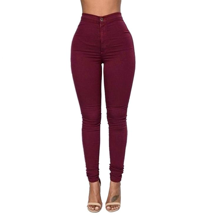 2016 Feitong Brand Jeans Women Pencil Pants High Waist Jeans Sexy Slim – Juliana's Leggings Boutique and etc.