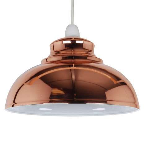 Featuring a copper finish, this Appleton style galley pendant light shade is…