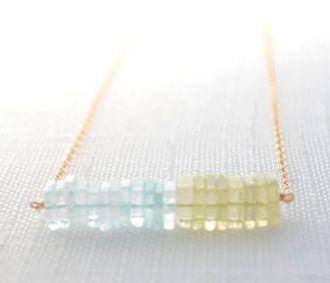 aquamarine and lemon quartz stones