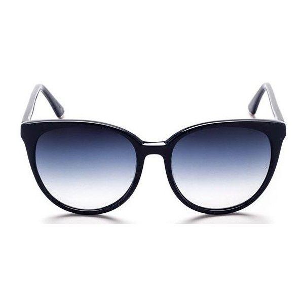 Sunday Somewhere CHA CHA SUN087-NAV-SUN Sunglasses (220 CAD) ❤ liked on Polyvore featuring accessories, eyewear, sunglasses, dark navy blue, acetate sunglasses, acetate glasses, blue lens glasses, blue glasses and blue sunglasses