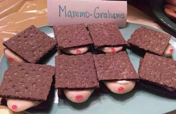 Mammo- Grahams! Great idea for breast cancer awareness functions or survivor celebrations!