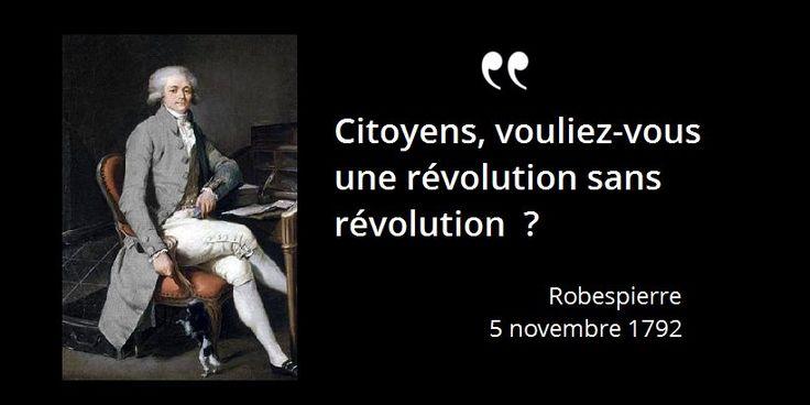 A la tribune Robespierre répond à l'accusation de Louvet et aux Girondins qui s'indignent des...