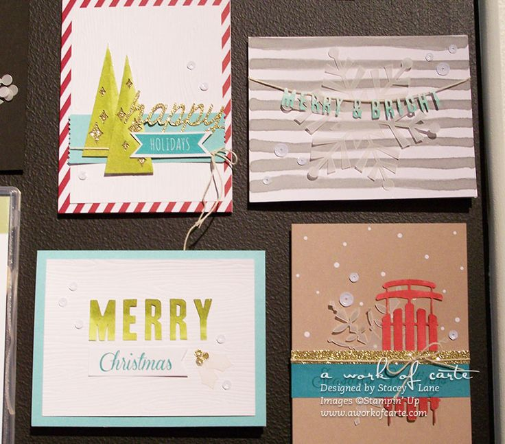 2014 Stampin' Up Holiday Catalog: Stampin' Up Watercolor Winter Simply Created Kit #stampinup #aworkofcarte