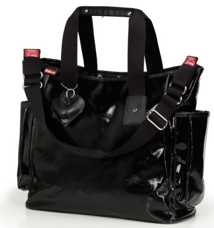 Babymel Tote - Black. Stylish and practical you can use this everyday and no one will even realise it's a nappy bag! $139 and available on www.dollface.com.au