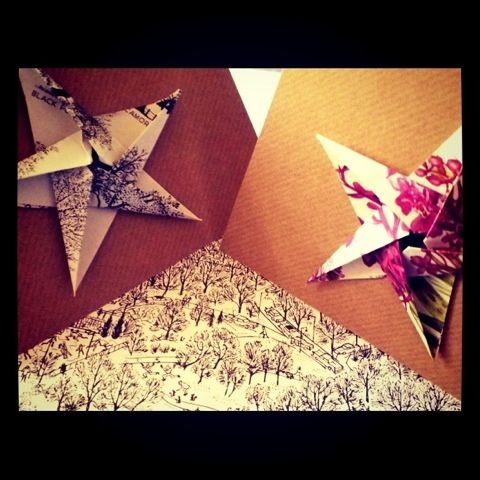 beautiful, beautiful origami star cards