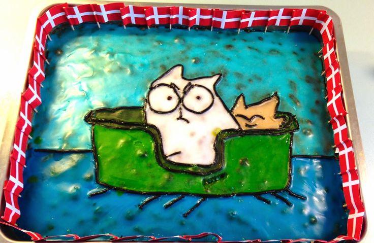 Bjørn og stoffer: Endnu en Simons Cat kage :)