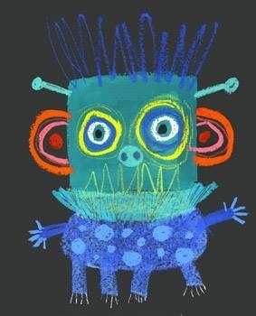 Er is toch niets leukers dan griezels tekenen? Zeker met het oog op de komende kinderboekenweek!