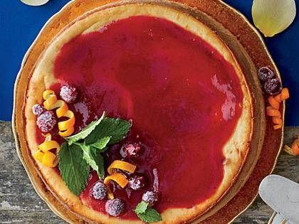 Cranberry Cheesecake with Cranberry-Orange Sauce