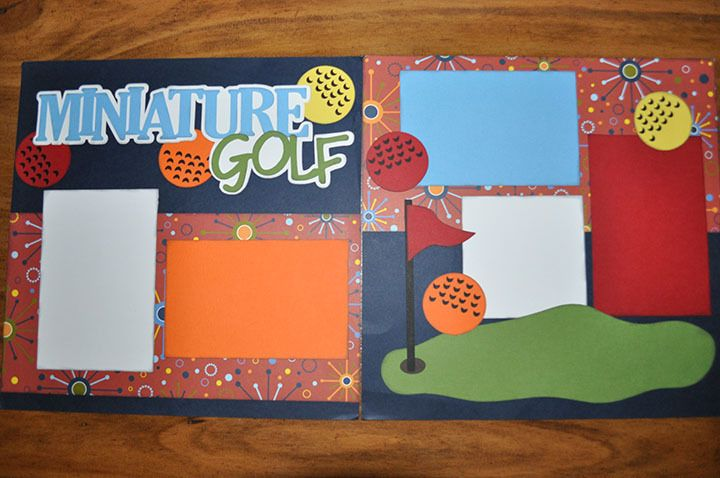 Minature Golf - 2 page 12 x 12 Pre Made Scrapbook Layout | eBay