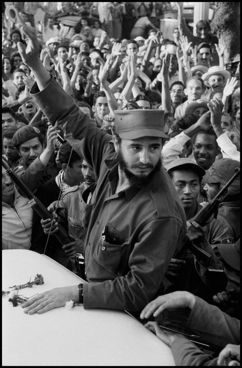 Fidel Castro  in Cienfuego, Cuba '59 on way to liberate Havana