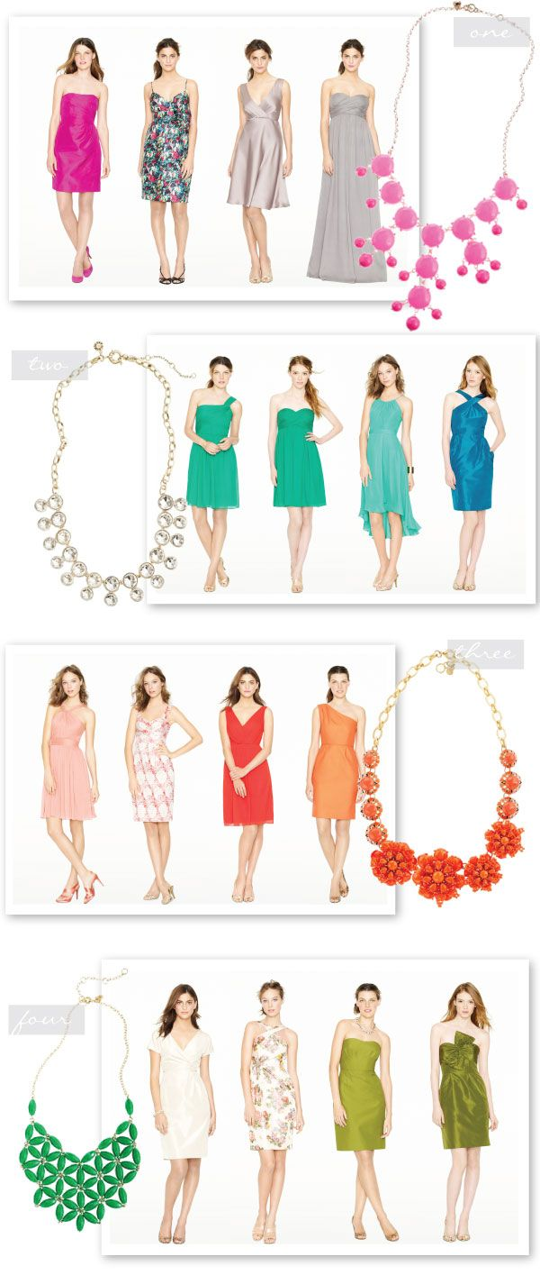 Jcrew Statement Necklaces Styled: Bold Necklace, Bridesmaid Necklaces, Statement Necklace, Fashion Style, Jcrew Bridesmaids, Bridesmaids Dresses, Fun Bridesmaid, Bridesmaid Dresses Colors, Bridesmaid Dress Colors
