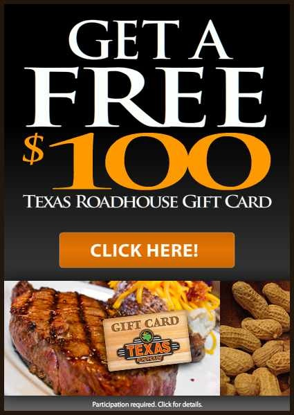 Texas Rhoadhouse Gift Card | Coupons-gift cards-freebies | Find more free offers on http://www.pinterest.com/TakeCouponss/texas-roadhouse-coupons/