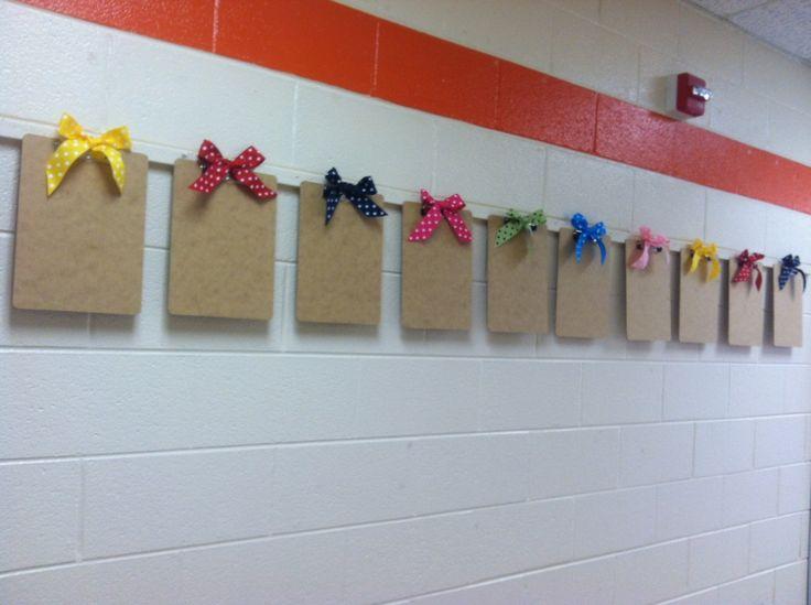 school bulletin board ideas using fabric | ... You Loved • 9 bulletin board ideas for displaying student work