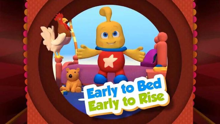 Early to bed, Early to rise and he who lies late will never be wise!  #Poem #kidsryhme #ryhme #game #3d #video #olly #icky #cock #chicken #kids #fun #kids #education #agnitus