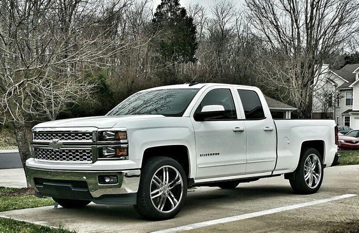 "2015 silverado, 22"" wheels, lowered 3"" in the rear. My new ..."