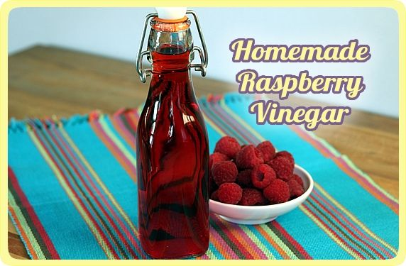 Homemade Raspberry Vinegar. Easy. Two Ingredient and Two Weeks is all it takes! Lasts about a year!