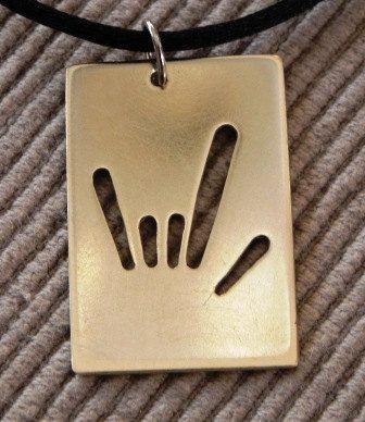 ILY I Love You (ASL) necklackace