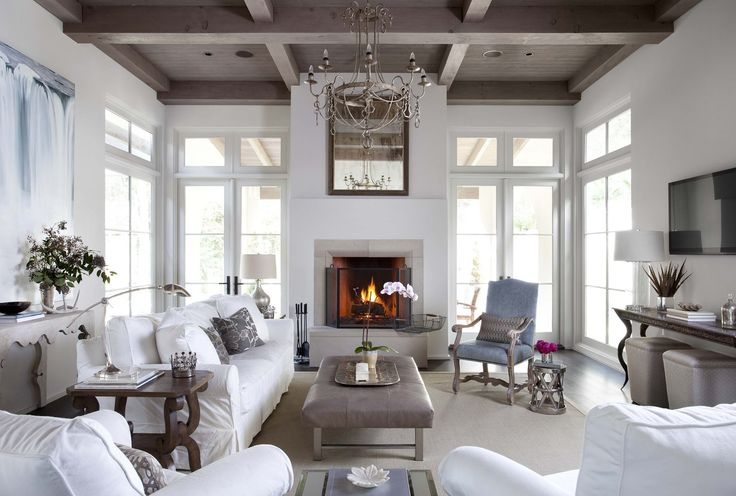 Sugar Creek | Ryan Street & Associates... beautiful! Love the doors on each side of fireplace.