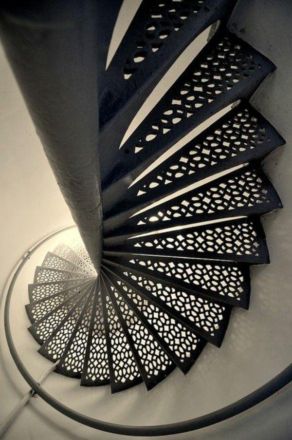 intérieur fantastique escalier métallique