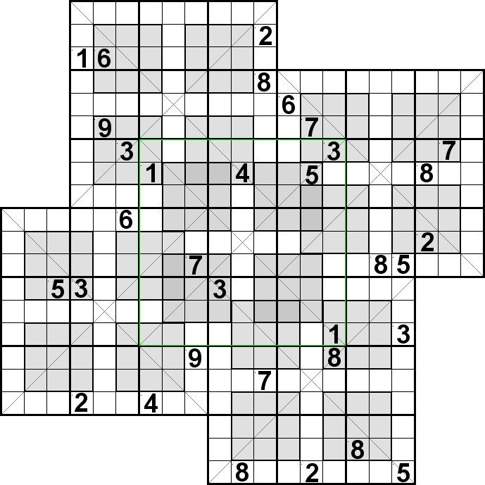 It is an image of Hilaire Mega Sudoku Printable