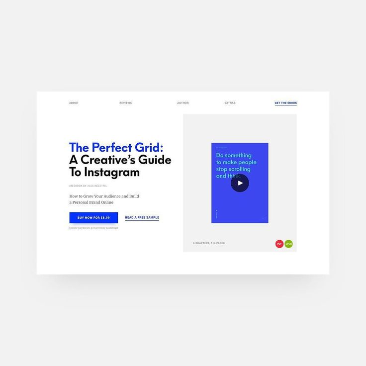 The Perfect Grid: A Creatives Guide To Instagram  New ebook from @alesnesetril about growing your audience and building a personal brand on Instagram.  Great read for all designers and creatives. Learn how to document and share your design work and lifestyle and build an authentic profile in six easy and actionable chapters. Link below or in bio!  https://goo.gl/Vn69A9   #design #uzersco #ui #ux #inspiration #web #dribbble #behance #website #brand #www #uidesign #uxdesign #webdesign…
