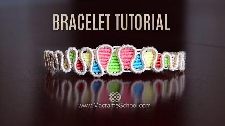 Drops Bracelet TUTORIAL by Macrame School                                                                                                                                                      More
