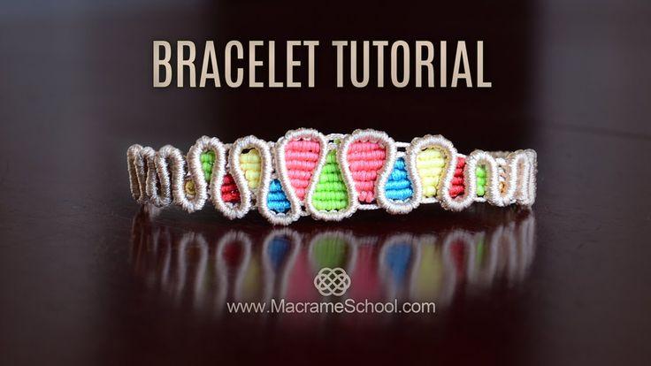 Drops Bracelet TUTORIAL by Macrame School                                                                                                                                                      More