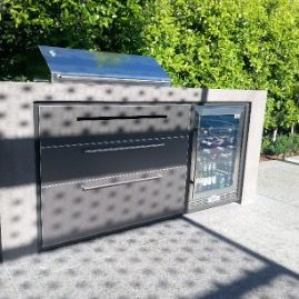 Concrete benchtop Outdoor Kitchen